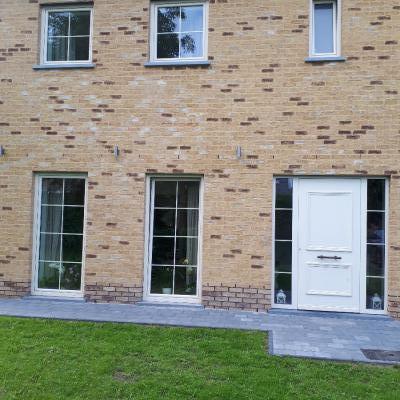 Nieuwbouwwoning PVC ramen Schoten
